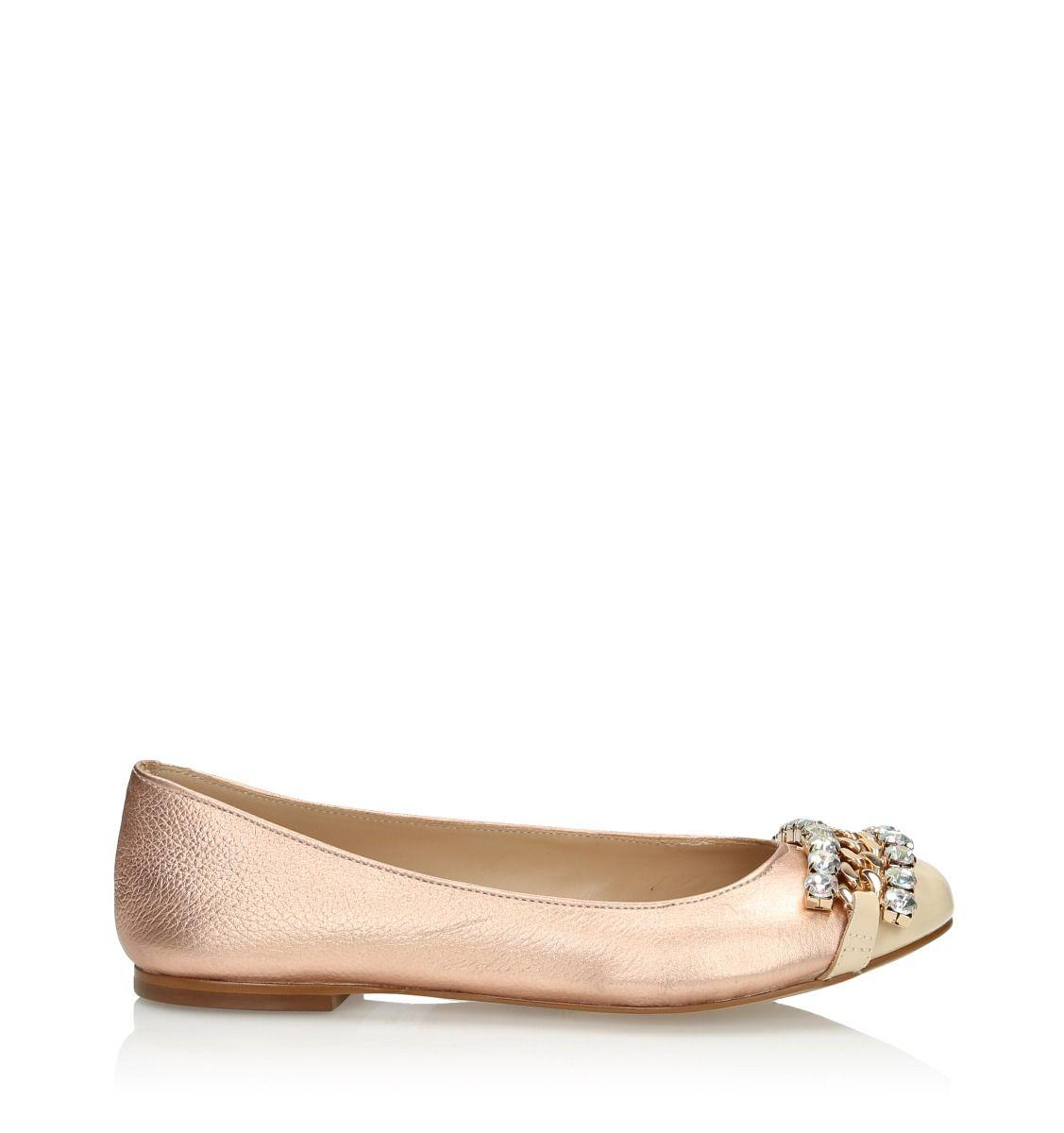 Copper gold ballerinas