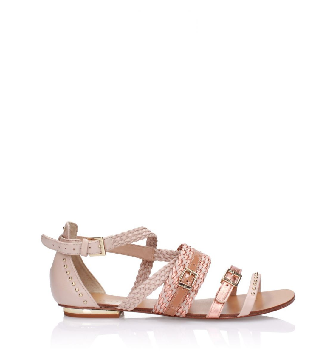 Multikolorowe sandały