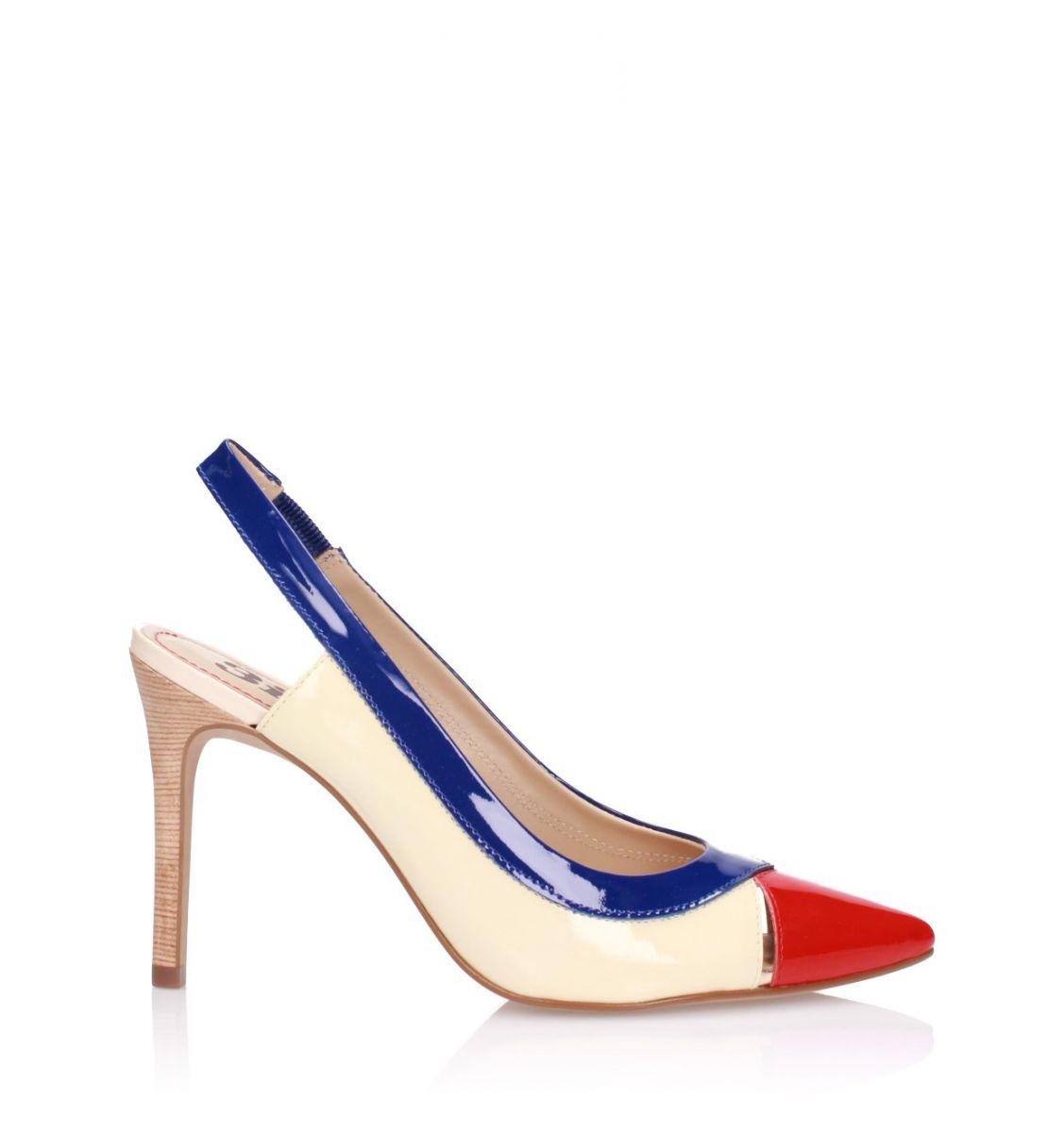 Multicolour high heeled sandals