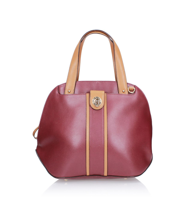 Bordowo-beżowa torebka