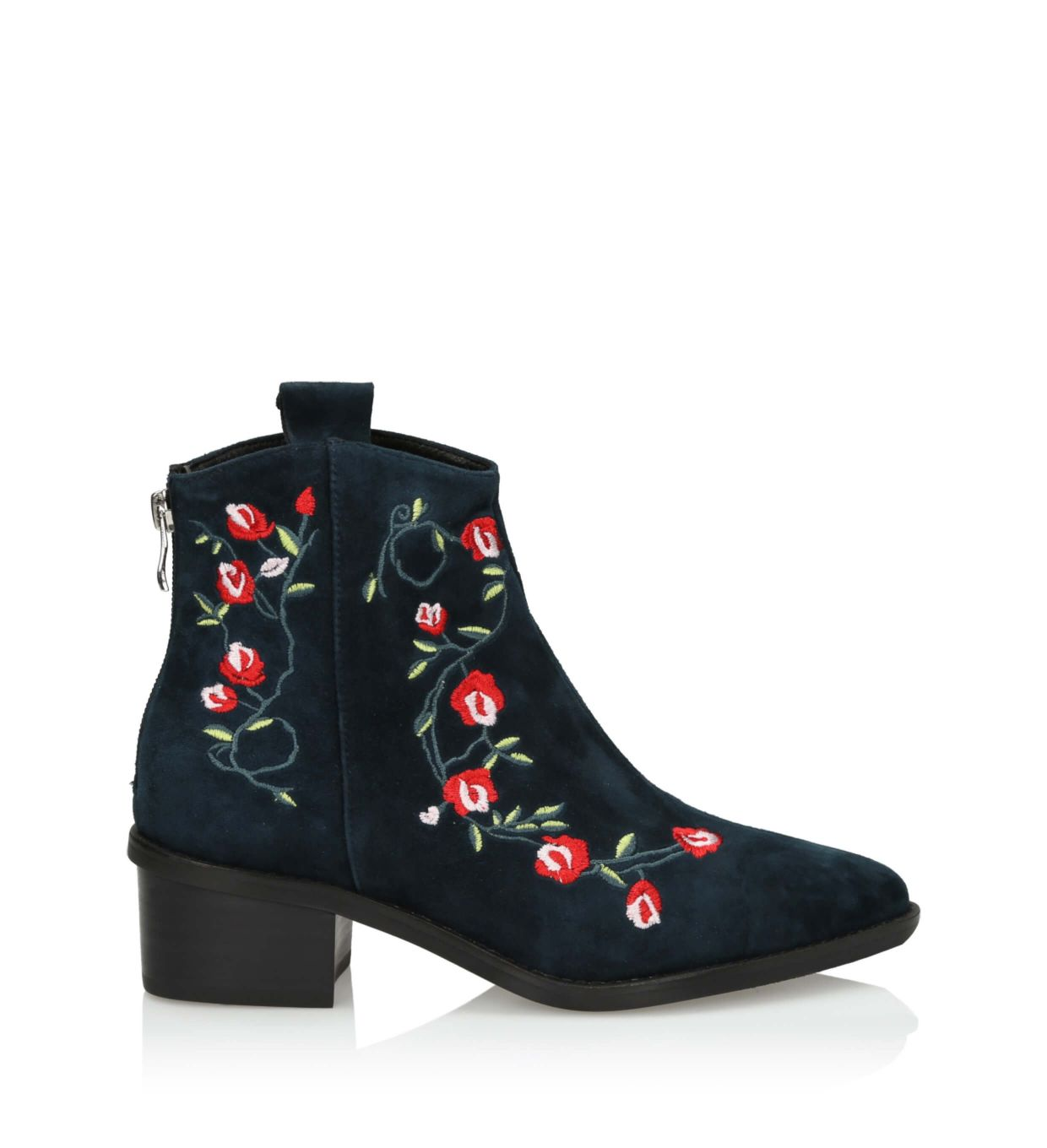 free shipping high fashion 2019 factory price 3i Navy blue ankle boots - 10662 Blue Suede - shop online 3i ...