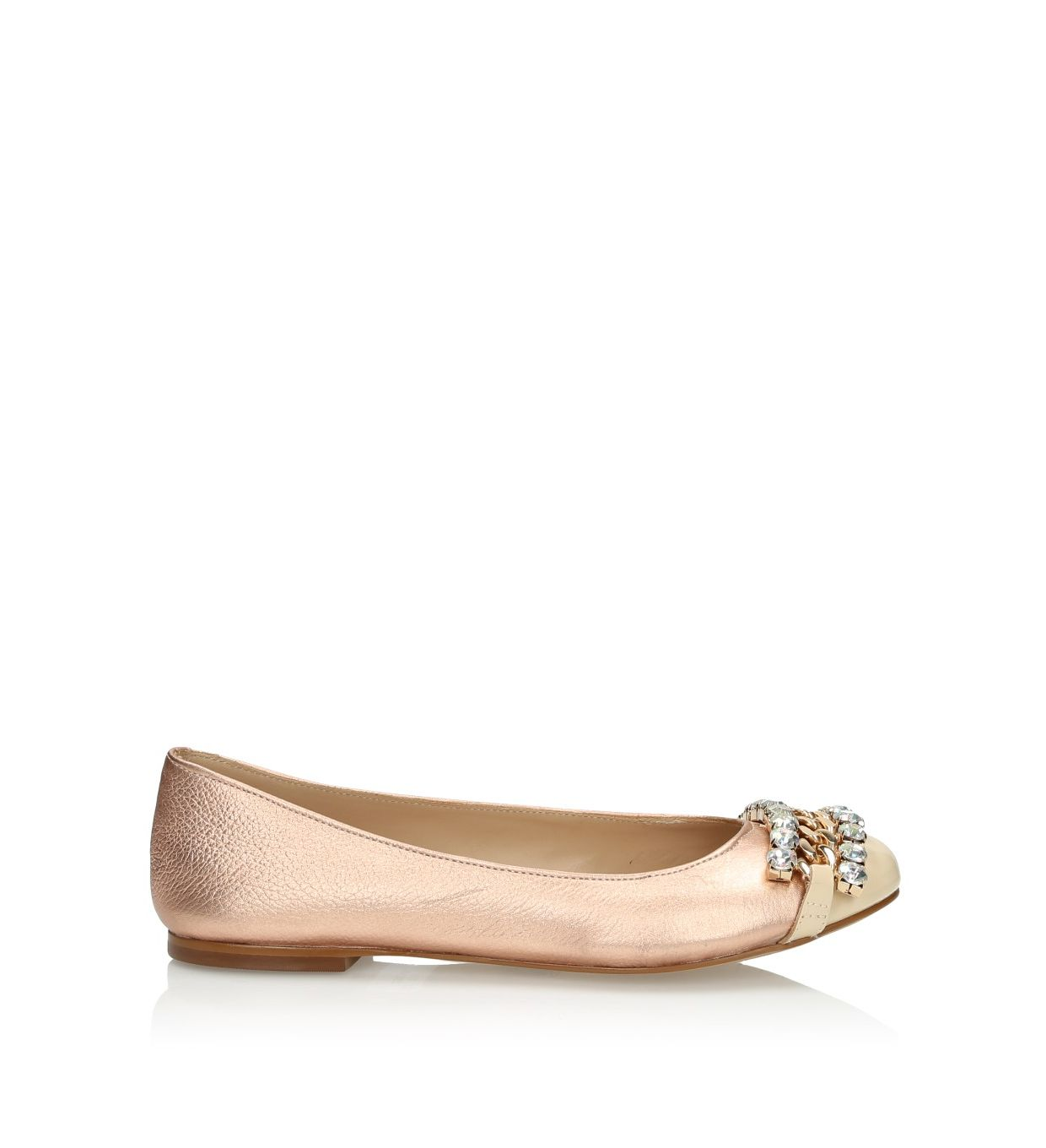 Copper gold ballerinas