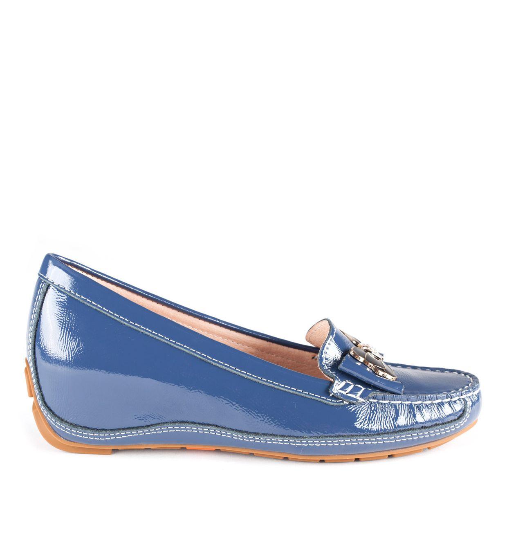 MOKASYNY FLO-9802-1 BLUE LAK