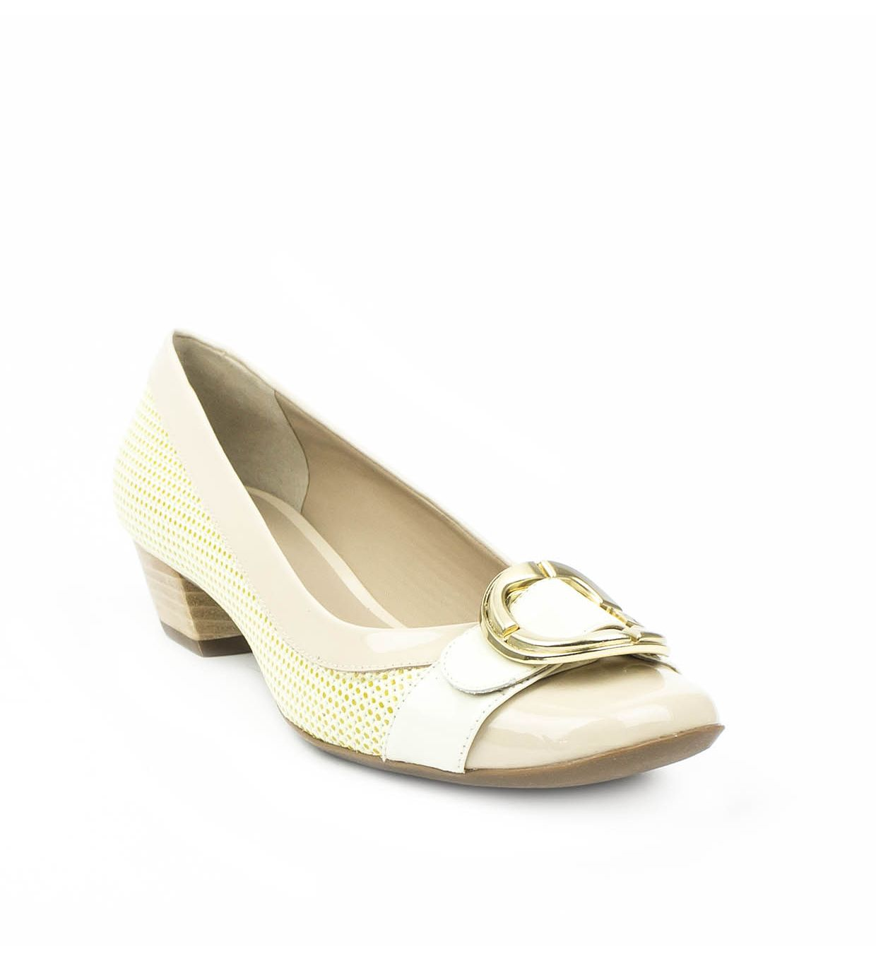 PÓŁBUTY JOR-4061-43 A6 YELLOW/CREAM