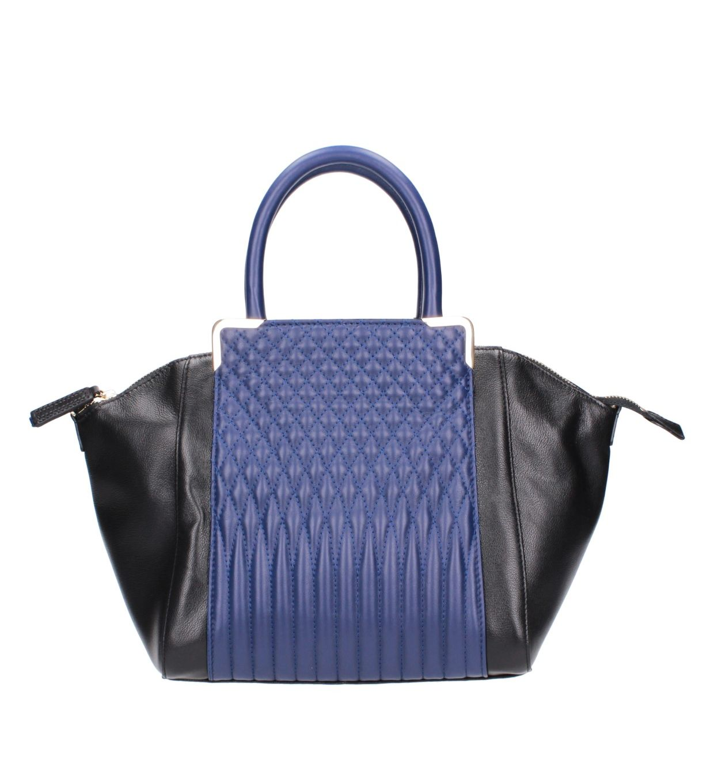 Czarno-niebieska torebka