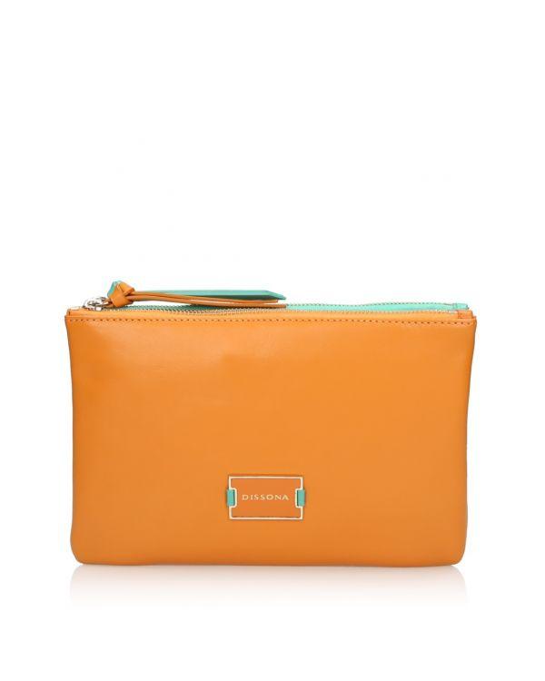 Pomarańczowo-zielona torebka