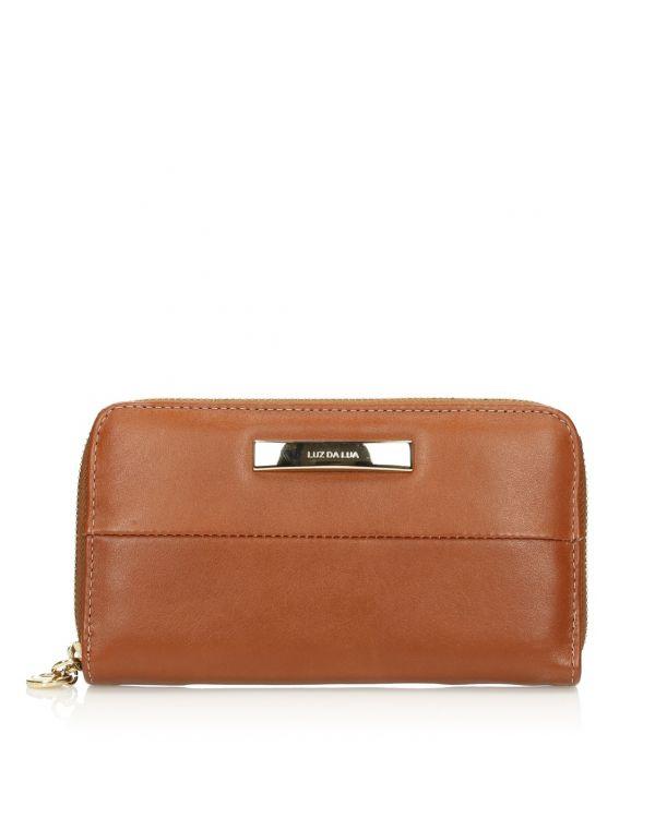 Brązowy skórzany portfel damski 3i - 09468 - 1