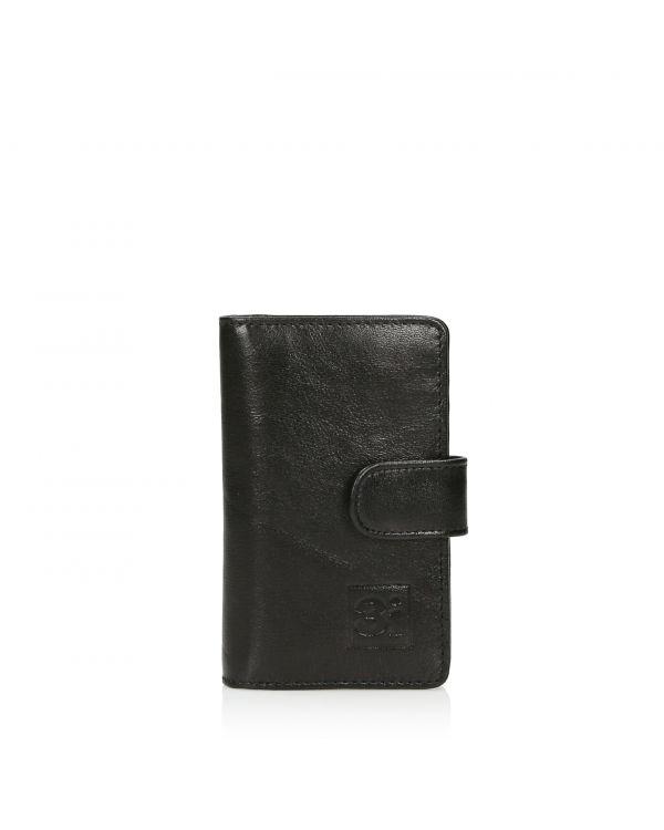 Czarny skórzany wizytownik/etui na karty 3i - 11249 - 1