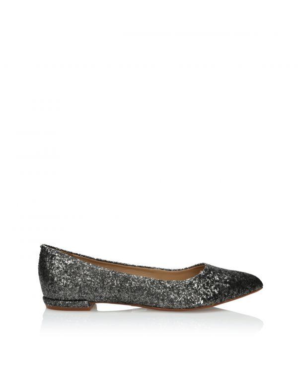 3i Silver and black ballerinas - 164280 Onix - 1