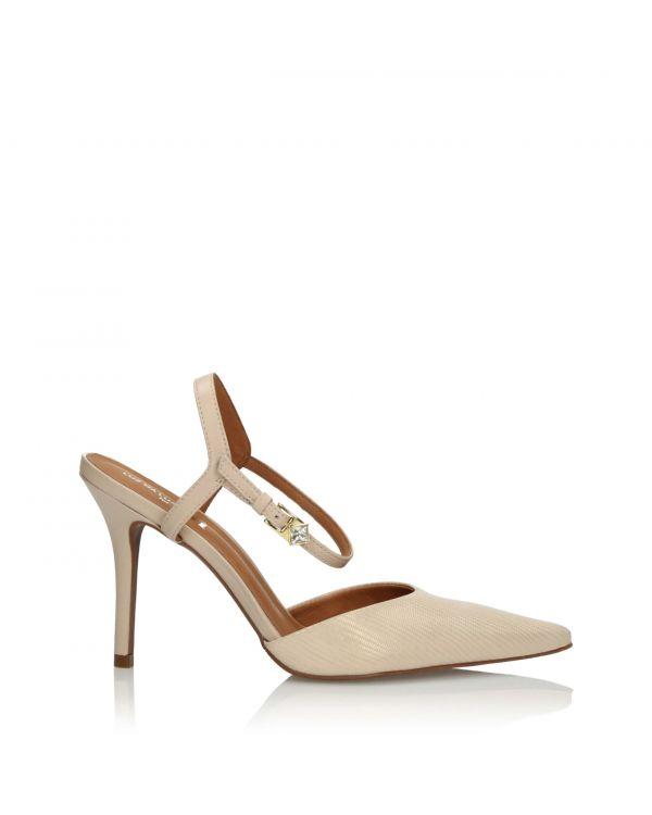 Beżowo-złote sandały damskie 3i - 29523 Iguana Nude - 1