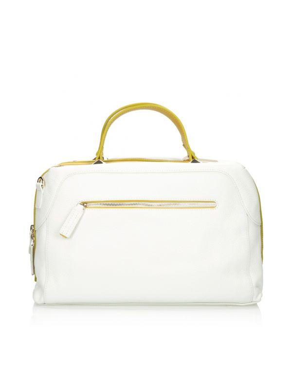 Biało-żółta torebka