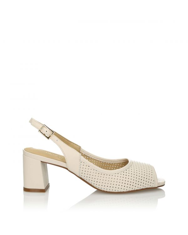 3i White sandals - 10732 - 1