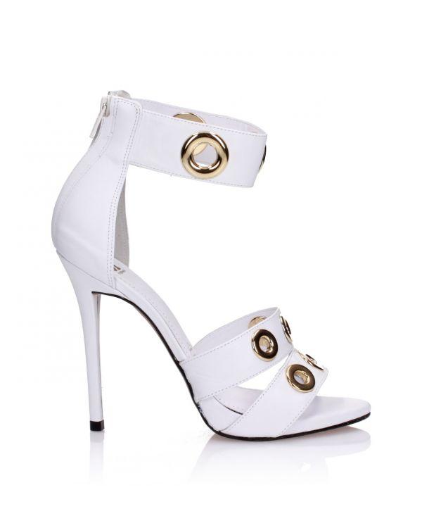 Białe sandały damskie 3i - 119042 White - 2