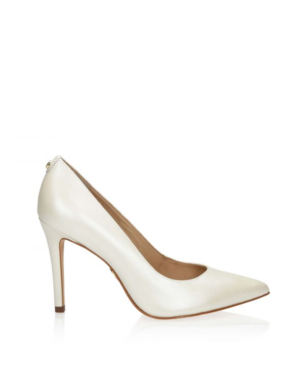 3i White pearl high heels by Jorge Bischoff - 11158 - 1