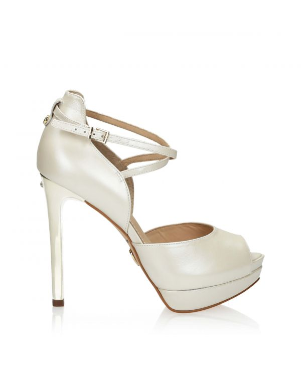 3i Pearl white high heeled sandals by Jorge Bischoff - 11156 - 1