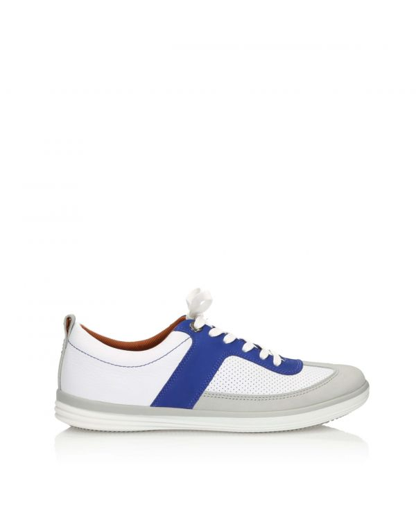 3i White and blue casual men's shoes - 11160 - 1