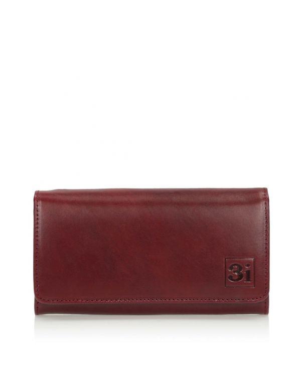 Brązowy portfel damski skórzany 3i - 11524 - 1