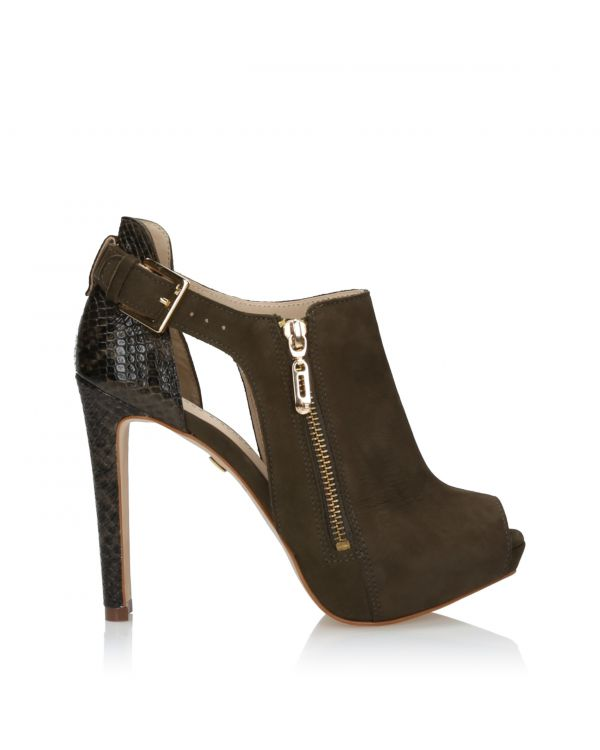 3i Khaki Peep Toe Ankle Boots - J31096002X05 Militar - 1