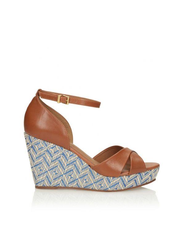 Brązowe sandały espadryle damskie 3i 11572 - 1