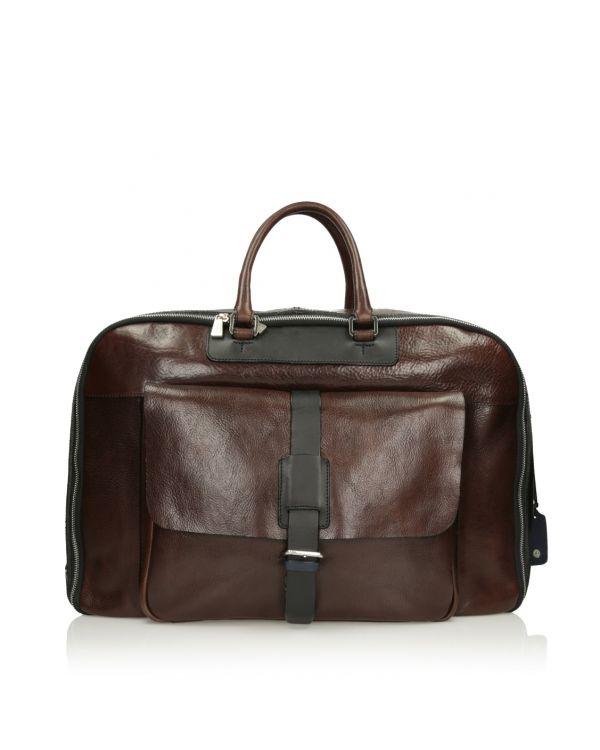 Brązowa skórzana torba męska 3i - 11521 - 1