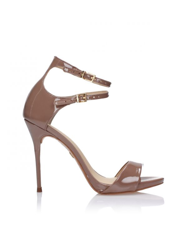 3i Dark beige high heeled sandals - J20094073/Z05 Macchiato - 1