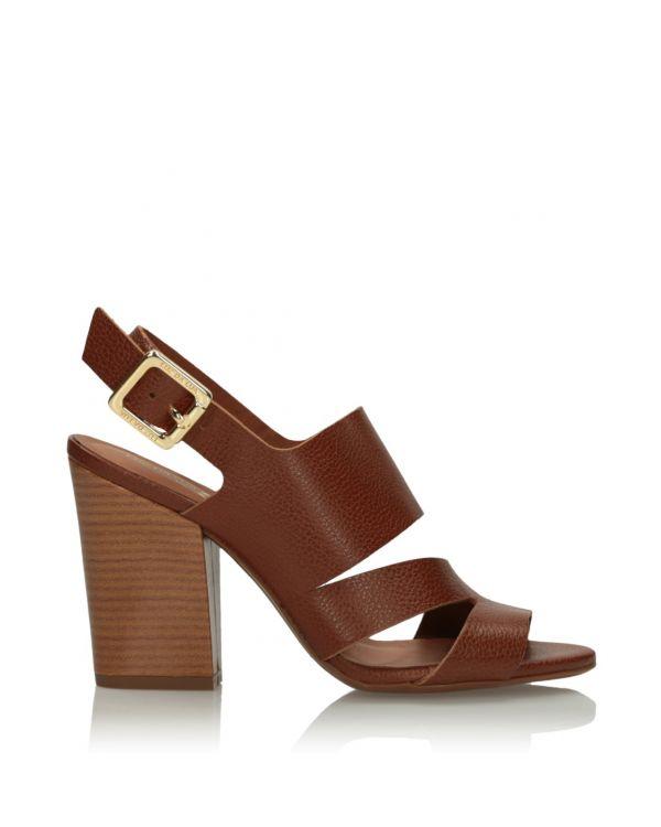 Brązowe skórzane sandały damskie 3i - 11634 - 1