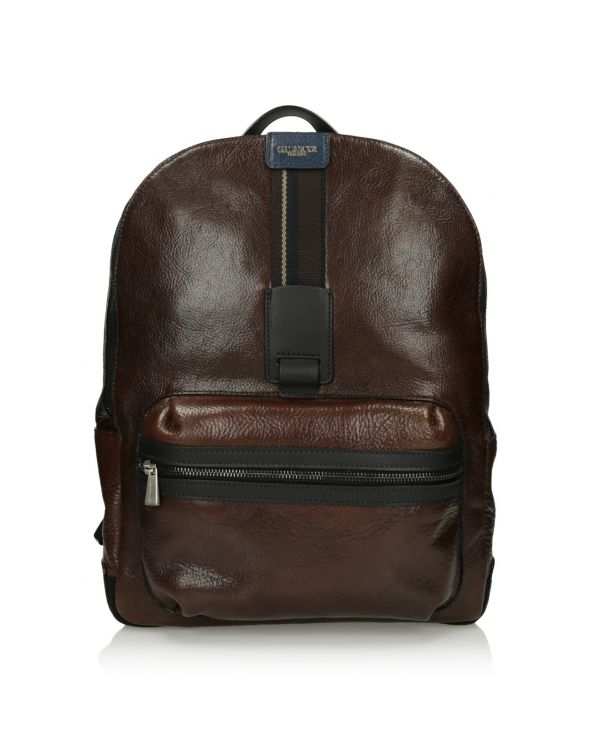 Brązowy skórzany plecak męski 3i - 11517 - 1