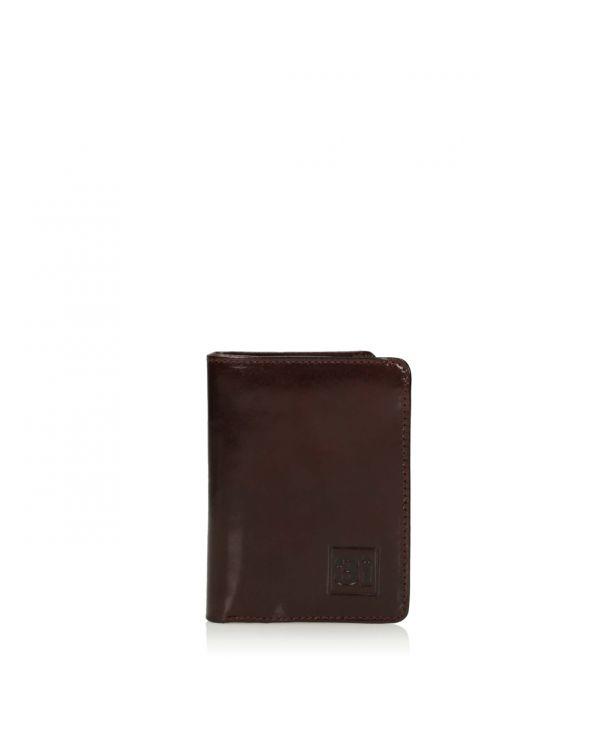 Brązowy skórzany składany organizer na karty/wizytówki 3i - 11252 - 1