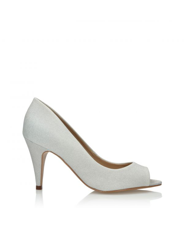 3i Glittery silver and white peep toe high heels - 164140 IN17 Prata - 1