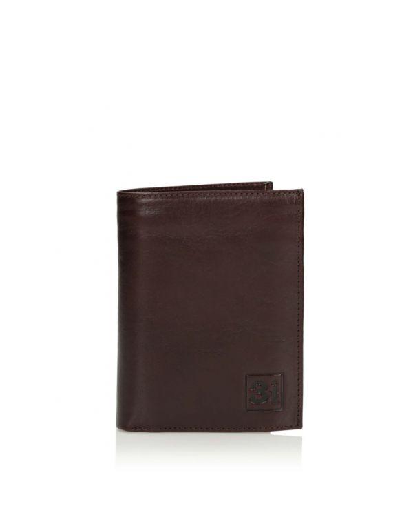 Ciemno brązowy portfel męski 3i - 11522 - 1