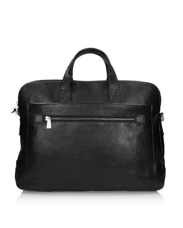 Czarna skórzana torba męska 3i - 11519 - 1