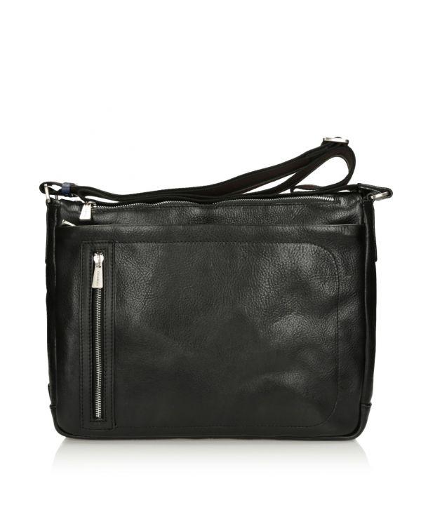 Czarna skórzana torba męska 3i - 11513 - 1