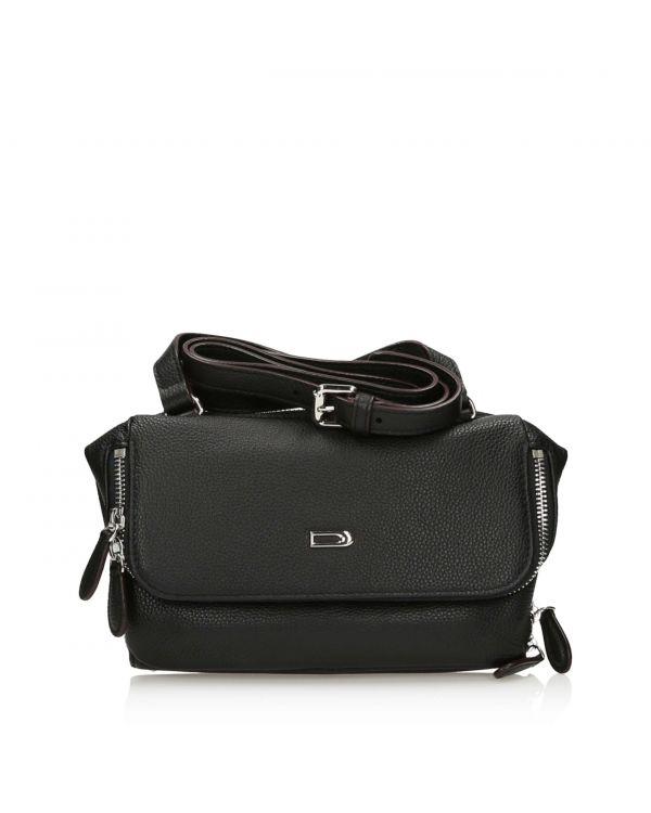 Czarna pojemna torebka damska na ramię 3i Dissona - 11125 - 1