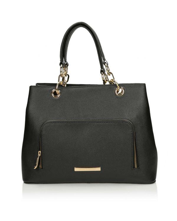 czarna klasyczna torebka damska 3i - 10884 - 1