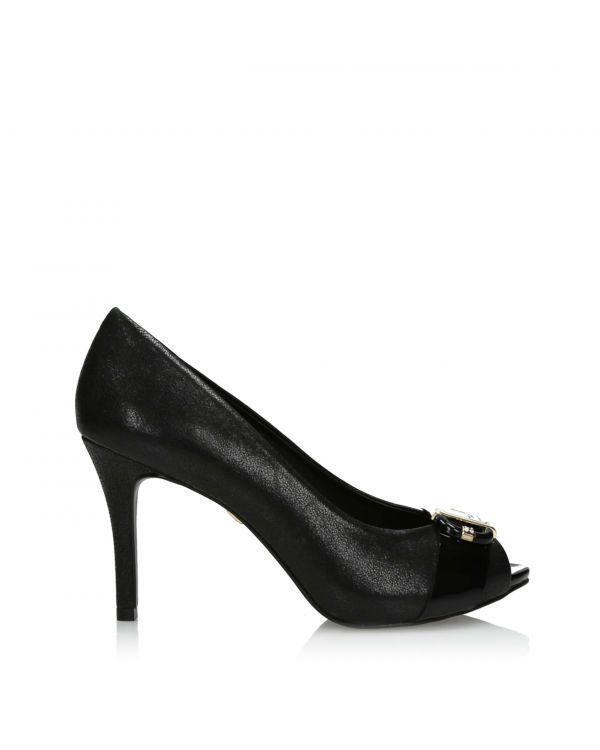 3i Black peep toe high heels by Jorge Bischoff - J31039059X01 - 1