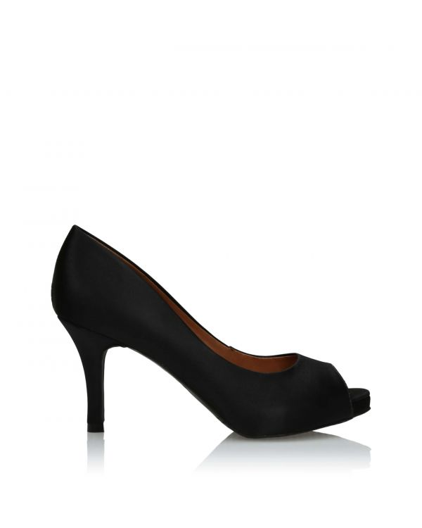 3i Black peep toe high heels - 25260 Preto - 1