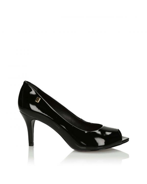 3i Black peep toe high heels  - 10850 - 1