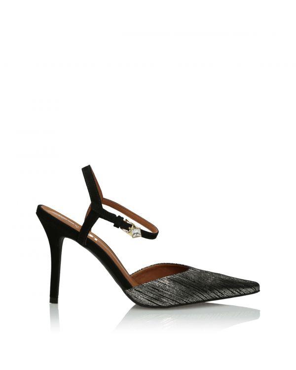 Złoto-czarne sandały damskie 3i - 29523 Graffiato Luna - 1