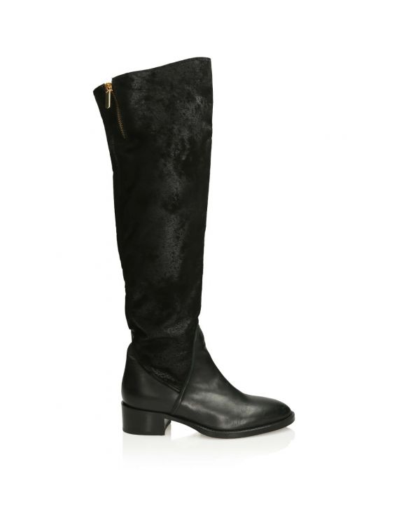 3i Black Italian leather boots - 11374 - 1