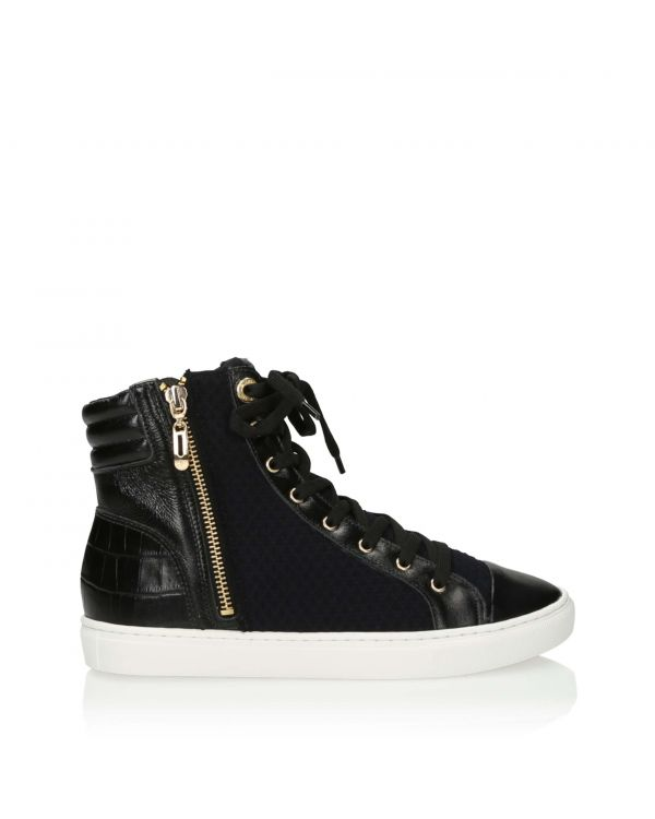 3i Black ankle high trainers - 10990 - 1