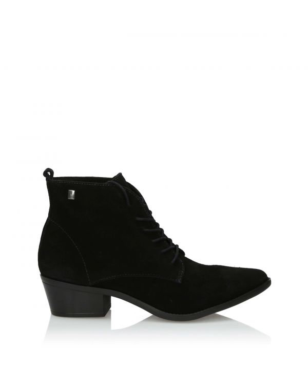 3i Black laced ankle boots suede leather - 11015 - 1
