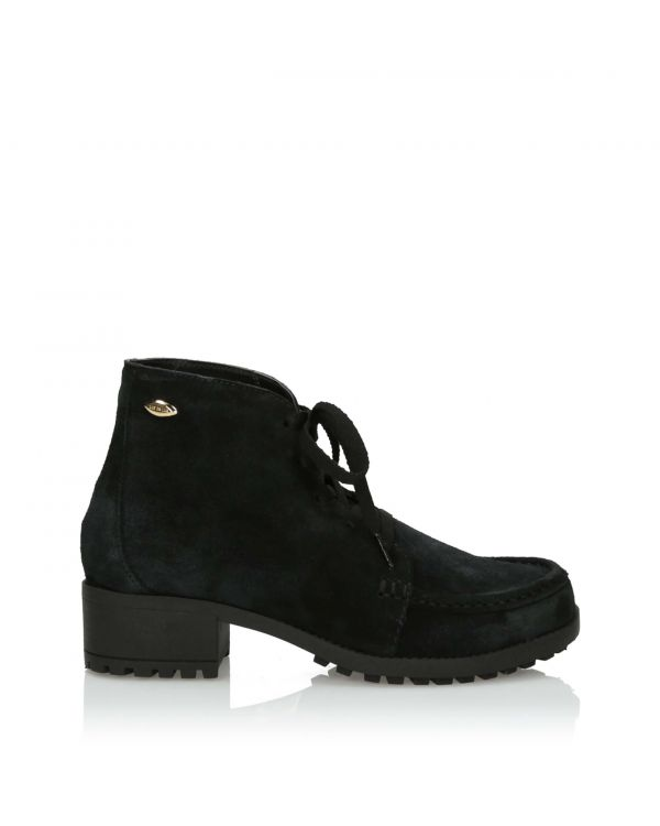 3i Black laced Ankle Boots - 11039 - 1