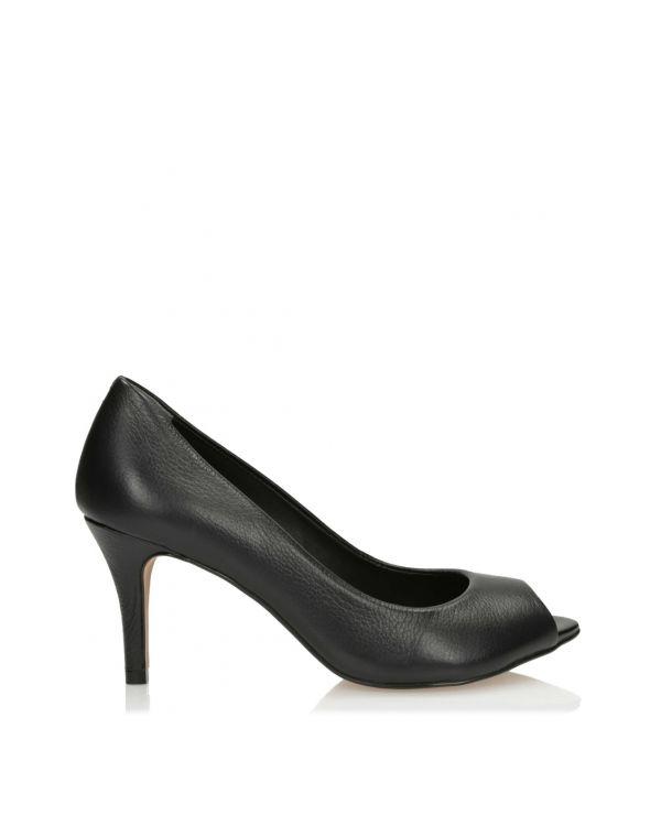 czarne klasyczne czółenka damskie 3i - 8873 - 1