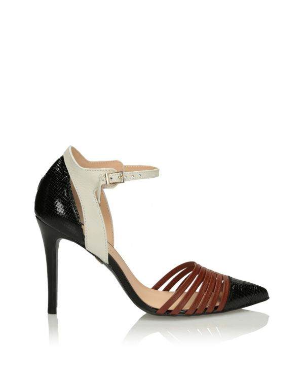 3i Black and brown high heeled sandals - 11565 - 1