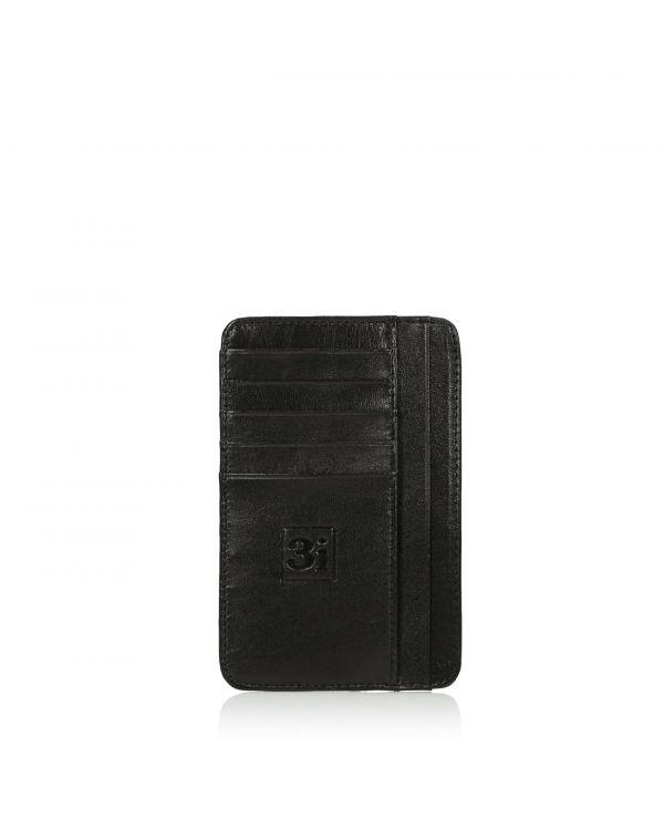 Czarny skórzany organizer na karty/wizytówki 3i - 11259 - 1