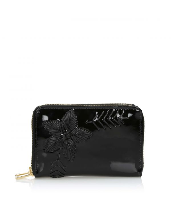 Damski portfel ze skóry lakierowanej 3i - 10795 - 1
