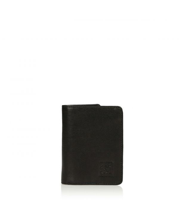 Czarny skórzany składany organizer na karty/wizytówki 3i - 11251 - 1