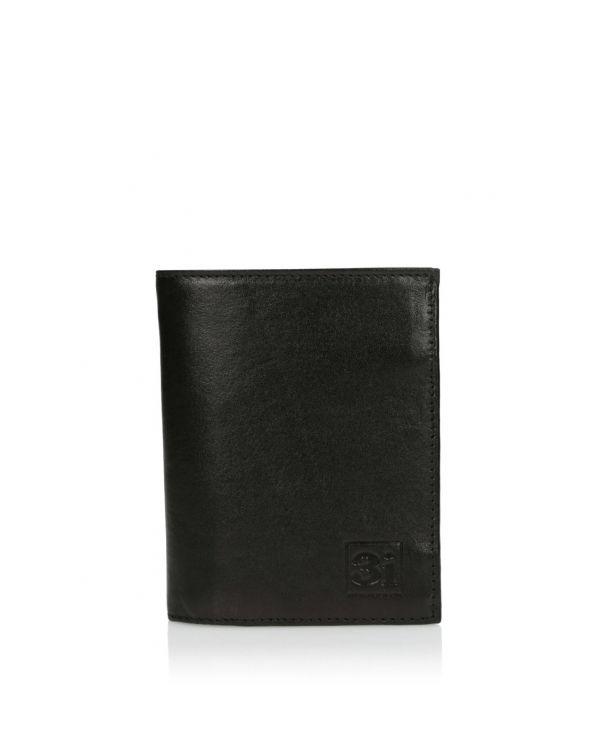 Czarny skórzany portfel męski 3i - 11525 - 1