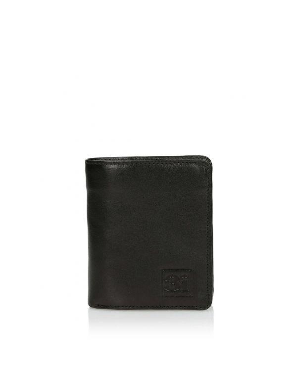 Czarny skórzany portfel męski 3i - 11526 - 1