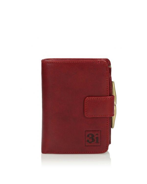 czerwony portfel damski 3i -11523 - 1